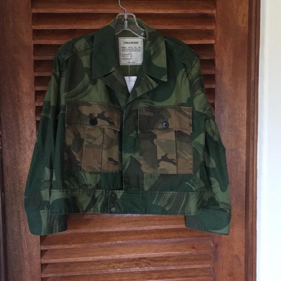 Zadig & Voltaire Jackets & Blazers - Green Camo Jacket
